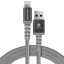 DUX DUCIS 2.4A 8 Pin MFI oplaadkabel  lengte: 1 m (grijs)