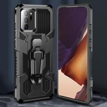 Voor Samsung Galaxy Note20 Machine Armor Warrior Shockproof PC + TPU Beschermhoes(Zwart)