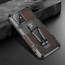 Voor Samsung Galaxy S20+ Machine Armor Warrior Shockproof PC + TPU Beschermhoes (Koffie)