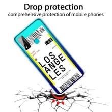 Voor Huawei P Smart 2020 Boarding Card Series Pattern TPU Protective Case (Los Angeles)