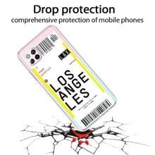 Voor Huawei P40 Lite 4G Boarding Card Series Patroon TPU Beschermhoes (Los Angeles)