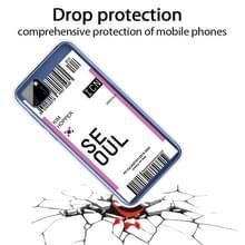 Voor Huawei Y5P 2020 Boarding Card Series Patroon TPU Beschermhoes (Vlag Seoul)