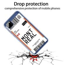 Voor Huawei Y5P 2020 Boarding Card Series Pattern TPU Protective Case (Montreal)
