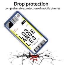Voor Huawei Y5P 2020 Boarding Card Series Pattern TPU Protective Case (Los Angeles)