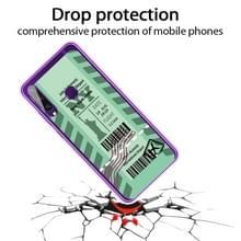 Voor Huawei Y6P 2020 Boarding Card Series Patroon TPU Beschermhoes (Groen New York)