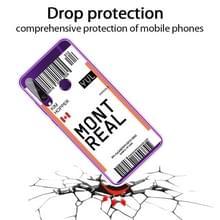 Voor Huawei Y6P 2020 Boarding Card Series Pattern TPU Protective Case(Montreal)