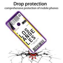 Voor Huawei Y6P 2020 Boarding Card Series Pattern TPU Protective Case (Los Angeles)