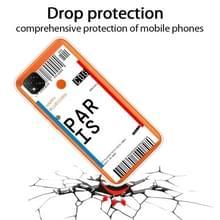 Voor Xiaomi Redmi 9C Boarding Card Series Patroon TPU Beschermhoes (Parijs)