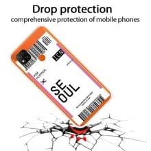 Voor Xiaomi Redmi 9C Boarding Card Series Patroon TPU Beschermhoes (Vlag Seoul)