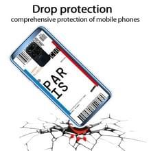 Voor Xiaomi Redmi Note 9 Boarding Card Series Patroon TPU Beschermhoes (Parijs)