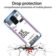 Voor Xiaomi Redmi Note 9 Boarding Card Series Patroon TPU Beschermhoes (Vlag Seoul)
