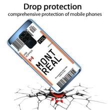 Voor Xiaomi Redmi Note 9 Boarding Card Series Patroon TPU Beschermhoes (Montreal)