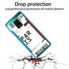 Voor Xiaomi Redmi Note 9S Boarding Card Series Patroon TPU Beschermhoes (Parijs)