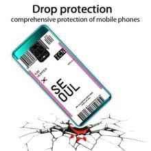 Voor Xiaomi Redmi Note 9S Boarding Card Series Patroon TPU Beschermhoes (Vlag Seoul)