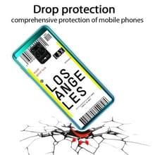 Voor Xiaomi Redmi Note 9S Boarding Card Series Patroon TPU Beschermhoes (Los Angeles)