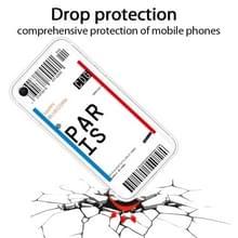 Voor iPhone SE (2020) / 8 / 7 Boarding Pass Series TPU Phone Beschermhoes (Parijs)