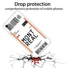 Voor iPhone SE (2020) / 8 / 7 Boarding Pass Series TPU Phone Protective Case(Montreal)