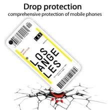 Voor iPhone SE (2020) / 8 / 7 Boarding Pass Series TPU Phone Beschermhoes (Losangeles)