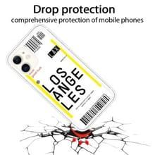 Voor iPhone 11 Boarding Pass Series TPU Phone Beschermhoes (Losangeles)