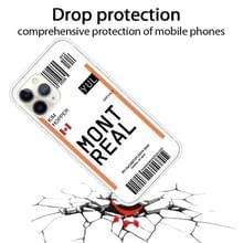 Voor iPhone 11 Pro Boarding Pass Series TPU Phone Beschermhoes(Montreal)