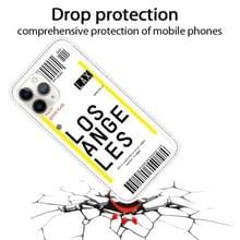 Voor iPhone 11 Pro Boarding Pass Series TPU Phone Beschermhoes (Losangeles)