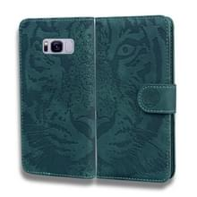 Voor Samsung Galaxy S8 Tiger Embossing Pattern Horizontale Flip Lederen Case met Holder & Card Slots & Wallet(Groen)