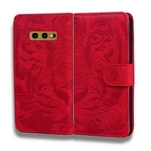 Voor Samsung Galaxy S10e Tiger Embossing Pattern Horizontale Flip Lederen Case met Holder & Card Slots & Wallet(Red)