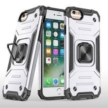Voor iPhone 6 & 6s Magnetic Armor Shockproof TPU + PC Case met metalen ringhouder