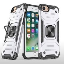 Voor iPhone 7 & 8 & SE 2020 Magnetic Armor Shockproof TPU + PC Case met metalen ringhouder