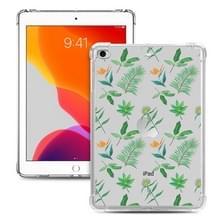 Voor iPad Mini 5 / 4 / 3 / 2 / 1 Painted Dropproof TPU Beschermhoes (Little Green Plant)