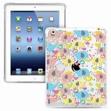 Voor iPad 4 / 3 / 2 Painted Dropproof TPU Beschermhoes (Rainbow Elephant)