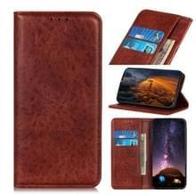 Voor Alcatel 3X 2020 Magnetic Crazy Horse Texture Horizontale Flip Lederen Kast met Holder & Card Slots & Wallet(Bruin)