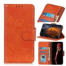 Voor Alcatel 3X (2020) Nappa Texture Horizontale Flip Lederen Kast met Holder & Card Slots & Wallet(Orange)