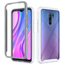Voor Xiaomi Redmi 9 Starry Sky Solid Color Series Shockproof PC + TPU Beschermhoes (Wit)
