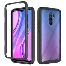 Voor Xiaomi Redmi 9 Starry Sky Solid Color Series Shockproof PC + TPU Protective Case(Zwart)