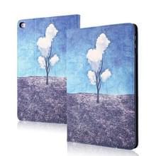 Silk Texture Anti-fall Horizontale Flip Leather Case met Holder & Sleep / Wake-up Functie Voor iPad 9 7 inch (2018) / (2017)(Tree Cloud)