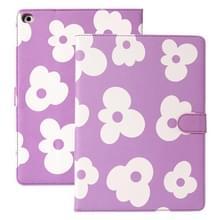 Bloempatroon horizontale flip lederen hoes met houder & slaap / wake-up functie voor iPad Pro 10 5 inch & Air (2019)(Paars)