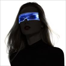 7-kleuren acryl LED-lichtgevende bril met USB Charge-poort