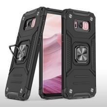 Voor Samsung Galaxy S8 Magnetic Armor Shockproof TPU + PC Case met metalen ringhouder(Zwart)