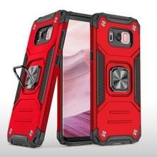 Voor Samsung Galaxy S8 Magnetic Armor Shockproof TPU + PC Case met metalen ringhouder(Rood)