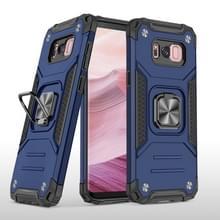 Voor Samsung Galaxy S8 Magnetic Armor Shockproof TPU + PC Case met metalen ringhouder(Blauw)