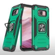 Voor Samsung Galaxy S8 Magnetic Armor Shockproof TPU + PC Case met metalen ringhouder (Donkergroen)