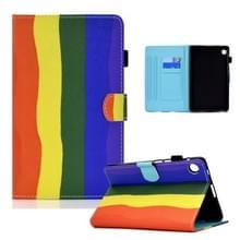 Voor Lenovo Tab M10 Plus Gekleurde tekening Horizontale Flip Lederen case met Holder & Card Slots & Sleep / Wake-up Functie(Rainbow)