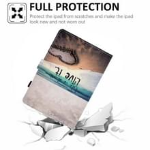 Voor Lenovo Tab M10 Plus Gekleurde tekening Horizontale Flip Lederen case met Holder & Card Slots & Sleep / Wake-up Functie(Love)