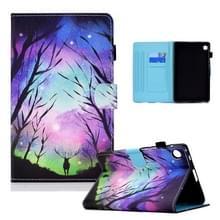 Voor Lenovo Tab M10 Plus Gekleurde tekening horizontale flip lederen hoes met houder & kaartslots & slaap / wake-up functie (Starry Herten)