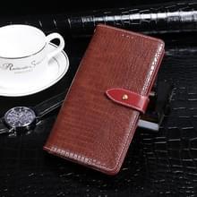 Voor Wiko View4 Lite idewei Crocodile Texture Horizontale Flip Lederen Case met Holder & Card Slots & Wallet (Burgundy)