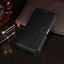 Voor ASUS Zenfone 7 ZS670KS idewei Crazy Horse Texture Horizontale Flip Lederen Kast met Holder & Card Slots & Wallet(Zwart)