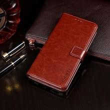 Voor ASUS Zenfone 7 ZS670KS idewei Crazy Horse Texture Horizontale Flip Lederen Kast met Holder & Card Slots & Wallet(Brown)