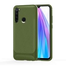 Voor Samsung Galaxy A21 EU-versie Carbon Fiber Textuur Schokbestendige TPU Beschermhoes (Groen)