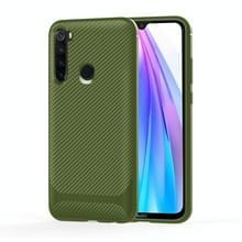 Voor Samsung Galaxy M11 & A11 Carbon Fiber Texture Schokbestendige TPU Beschermhoes(groen)